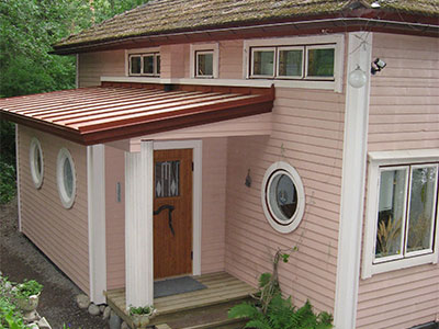Inomhus multrum i en badrumsutbyggnad – Ekolet VS modell