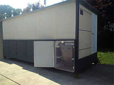 Ekolet torrtoalett i en container i Kina – Ekolet Happy-Loo modell